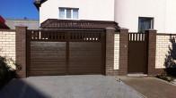 Распашные ворота ALUTECH серии ADS400 S Гофр