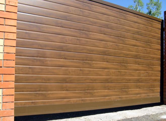 Откатные ворота ALUTECH серии ADS400  S-гофр