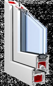Металлопластиковое окно KBE 58 mm