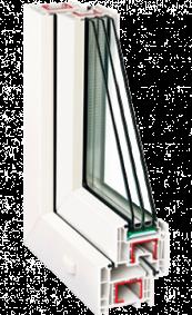 Металлопластиковое окно Rehau Ecosol-Design 60