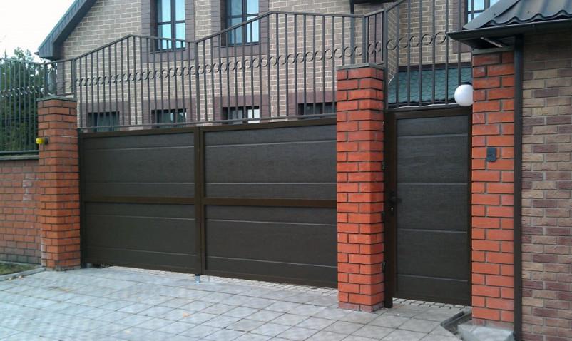 Распашные ворота ALUTECH серии ADS400 L-Гофр